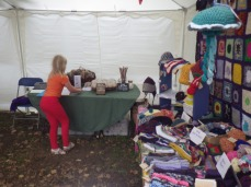 Joined by Hannah's wool stall