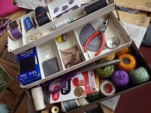 A bulging mending box