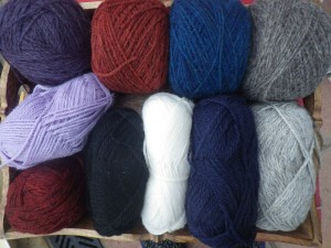 I've got plenty of yarn... the wool from Karen is the top three cakes on the right