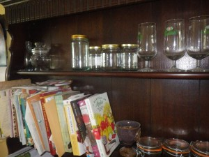 Books and jars - it's a working piece of furniture now