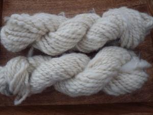Hand spun Portland wool