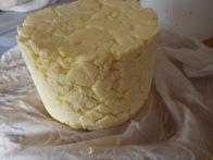 The beginnings of a cheese - more pressing required