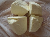 Gradually the curds become solid