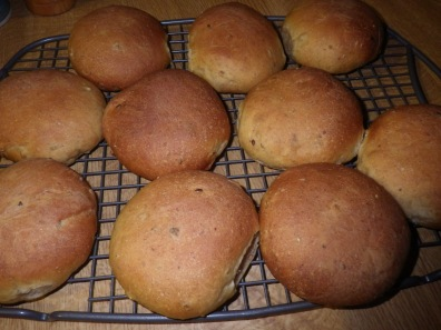 Freshly made bread rolls