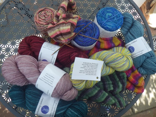 All the KG yarn, knitted or not