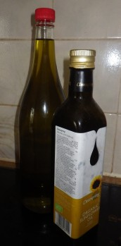 We get our bottles of cooking oil refilled to minimise packaging
